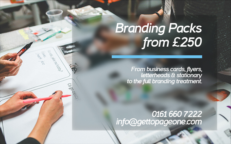 Branding & advertising packs - Get To Page One Ltd