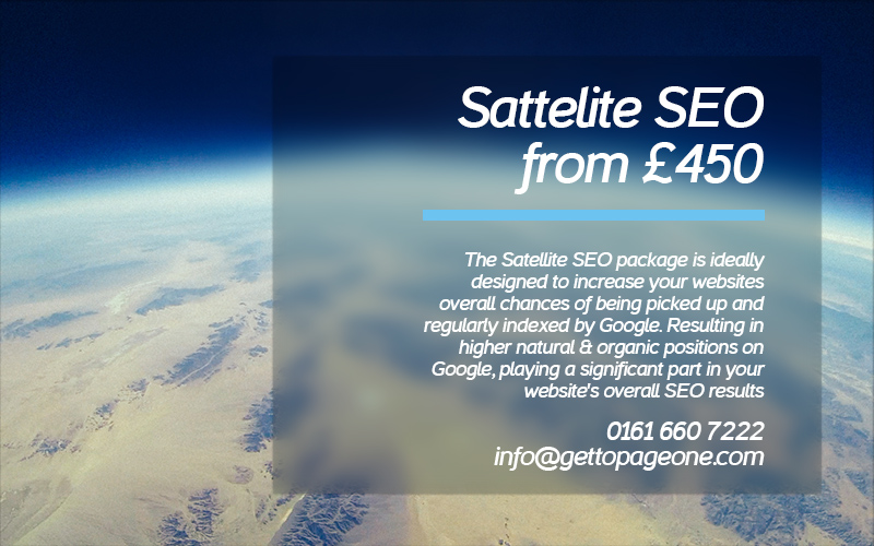 Sattelite SEO package - Get To Page One Ltd