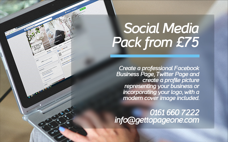 Social Media Packs - Get To Page One Ltd