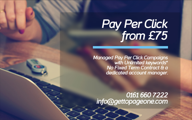 PPC / pay per click services - get to page one ltd